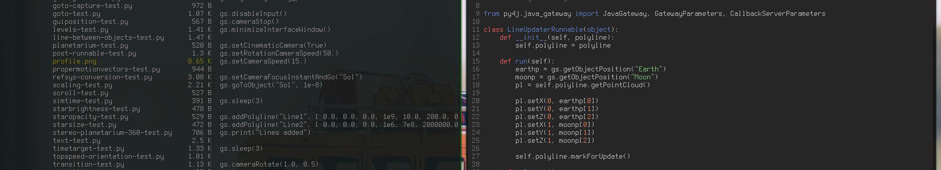 Scripting Gaia Sky with Py4J